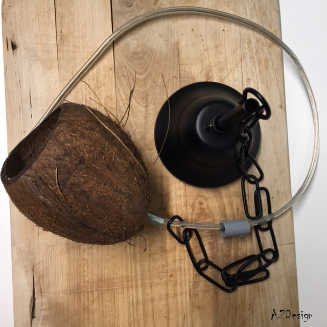 coconut lamp by Andok Zsuzsanna