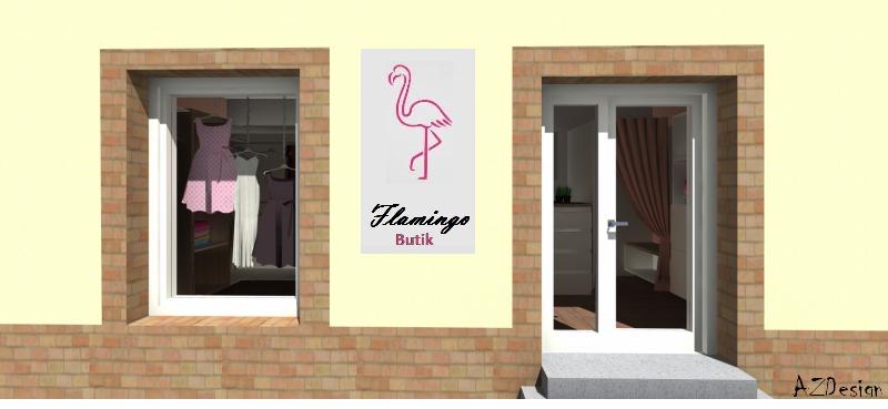 Flamingó butik látványterv