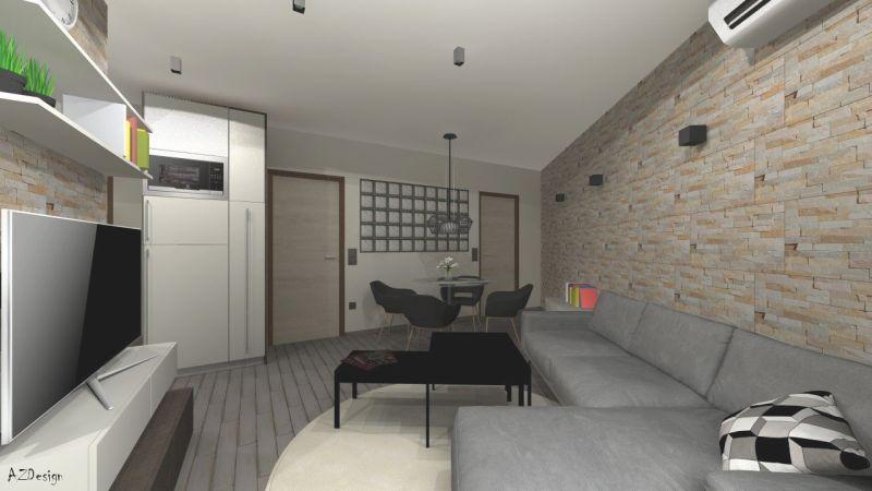 Siófoki lakás nappali látványterv