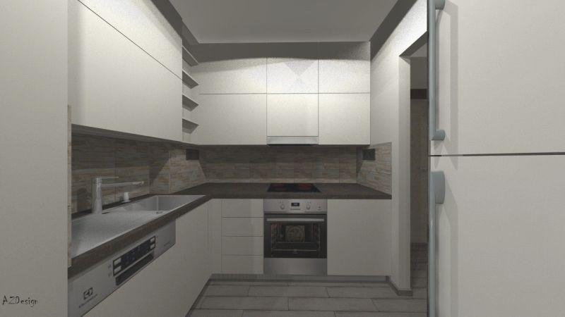 Siófoki lakás konyha látványterv