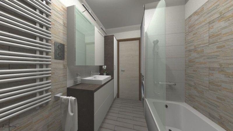 Siófoki lakás fürdő látványterv