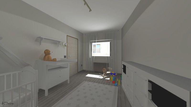 Siófoki lakás gyerekszoba látványterv