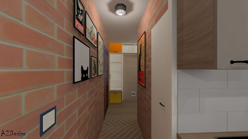 lakás látványterv előszoba