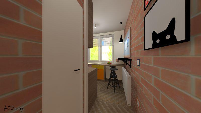 lakás látványterv előszoba konyha