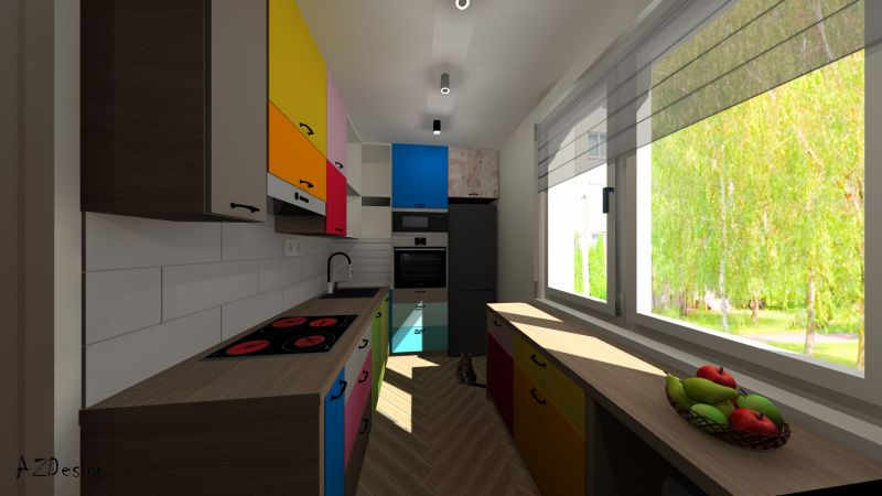 lakás látványterv konyha