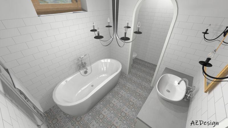 látványterv fürdő