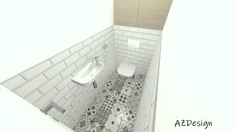 látványterv wc