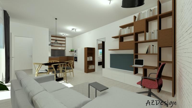 látványterv nappali